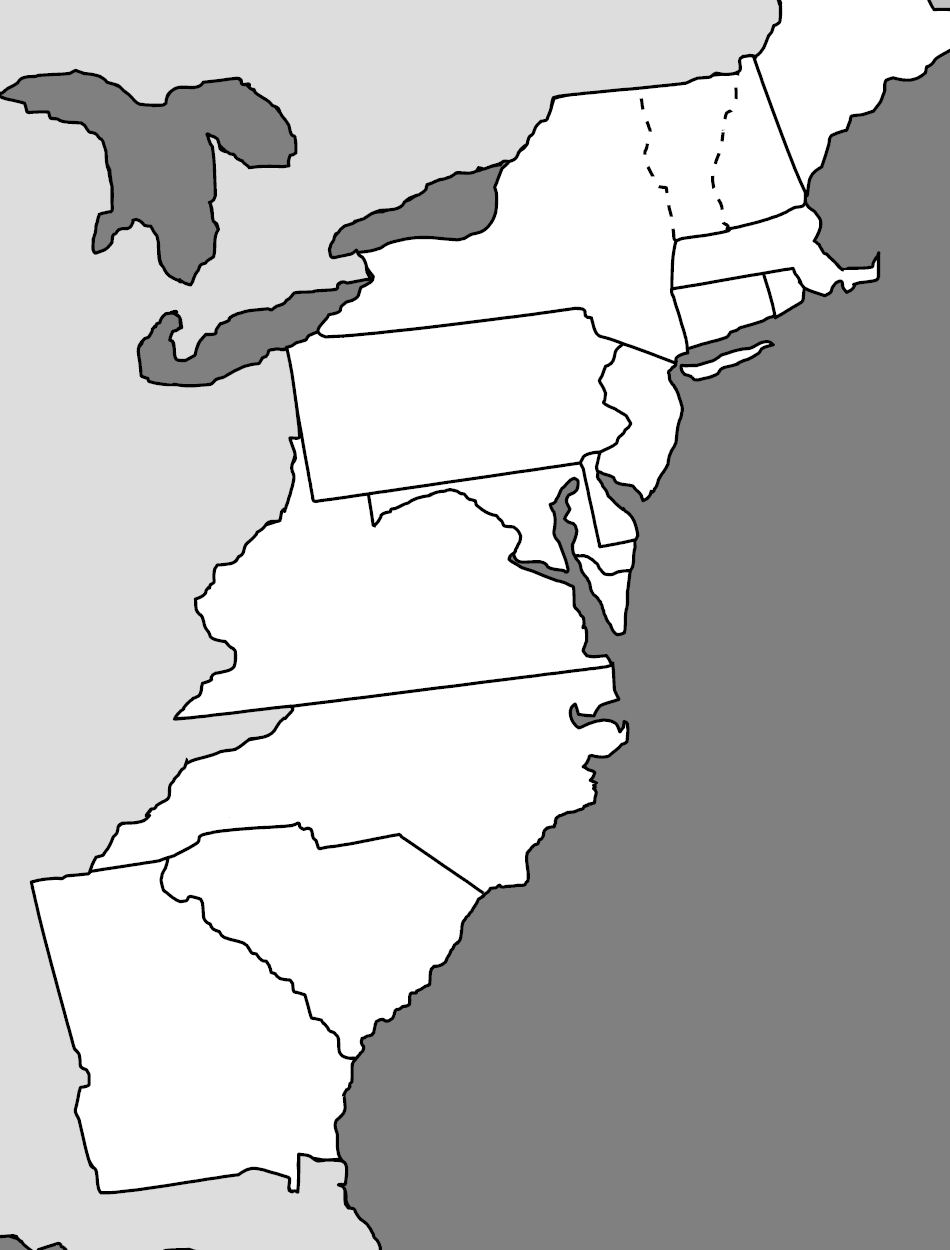 13 Colonies, Hawken? Quiz - By KBrickmanBlack And White Delaware Colony Map